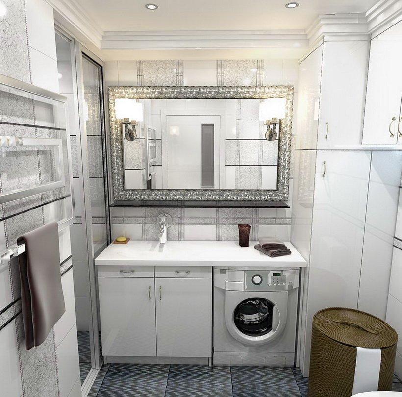 Ванная комната дизайн в серых тонах