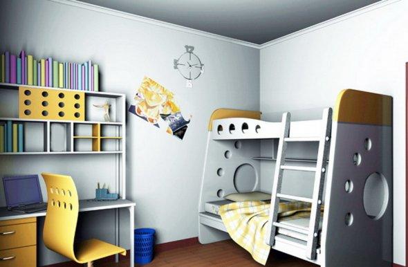 Стиль хайтек тоже подходит для детской комнаты.