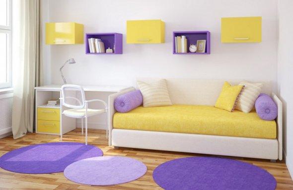 Яркие краски дизайна детской комнаты