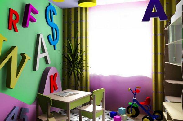 Оформление для  детской комнаты.