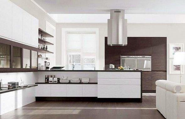 На фото вариант дизайна кухни.