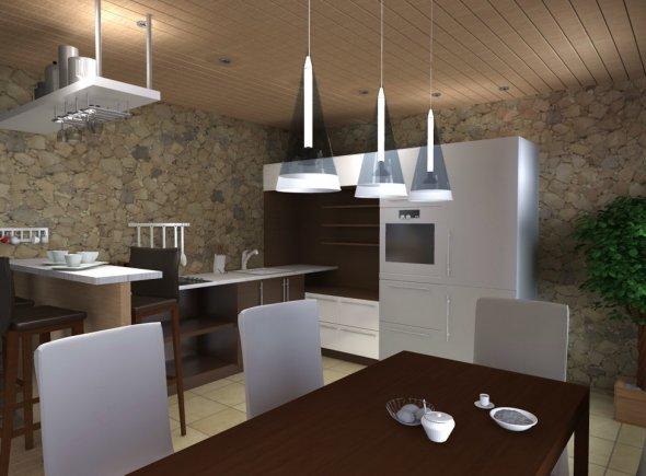 Анимированный дизайн кухни.