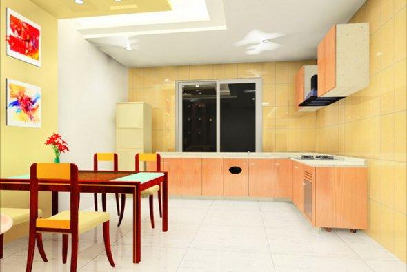 Светлый дизайн для кухни.