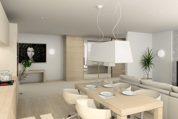 Дизайн кухонной комнаты.