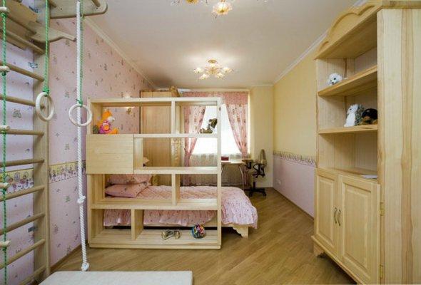 Разположение мебели в детской комнате