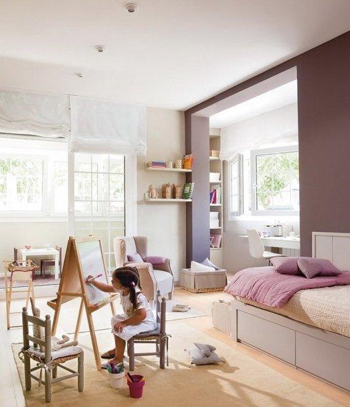 Светлая рацветка детской комнаты