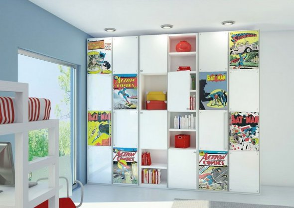 Оформление цветных полок для детей