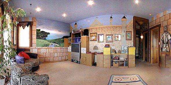 Дизайн на стенах в детской комнате