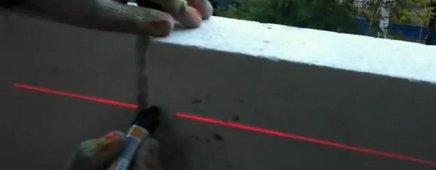 Лазер для выравнивания стен из пеноблоков