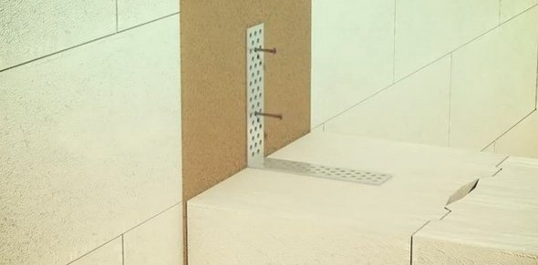 Крепление блоков межкомнатных перегородок