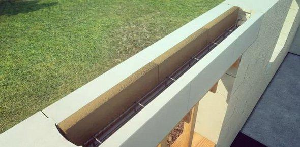 Создание перемычек над проемами из блоков газобетона