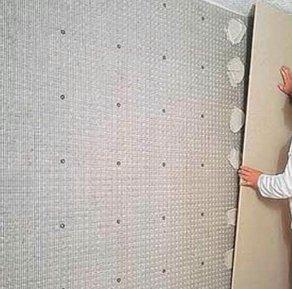 Наклейка гипсокартона на стены