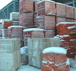 Хранение керамических блоков под открытым небом