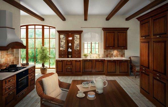 Обустройство кухни в классическом стиле