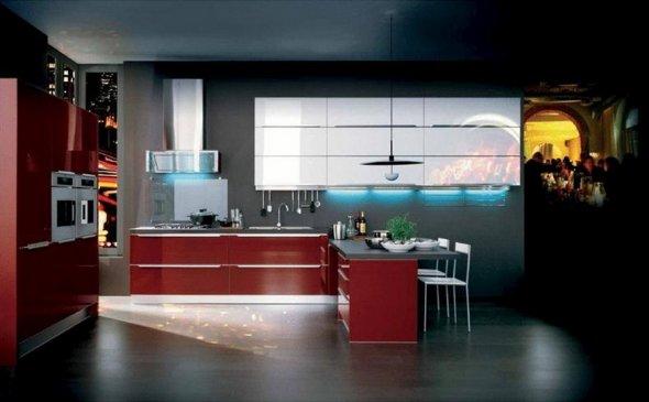 Размещение кухонной мебели