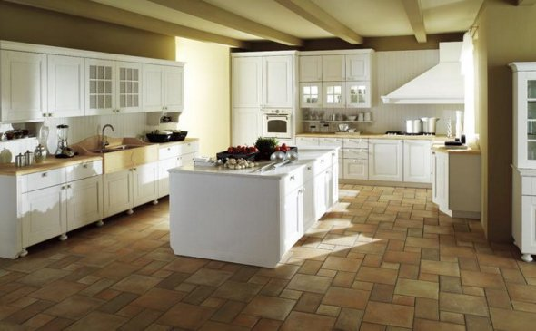 Расположение мебели в кухне
