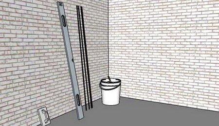 Стена для штукатурки по маякам