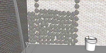 Набрасывание штукатурного раствора на стену