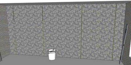 Стена под штукатурку