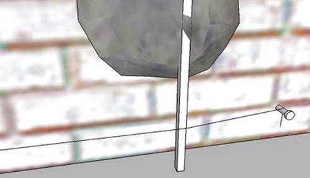 Определения уровня маяков по шнуру