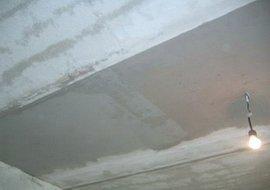 Потолок подлежащий штукатурке