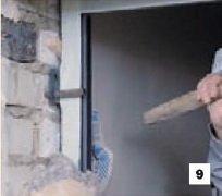 Крепление входной двери с помощью анкеров