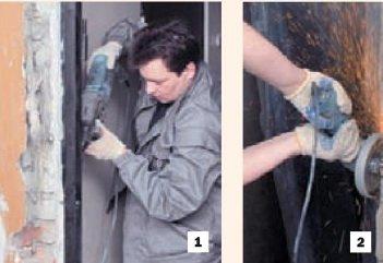 Демонтаж старой двери и дверной лутки