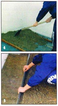 Укладка цементно-песчаной стяжки