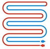 Схема укладки трубопровода теплого пола двойная змейка
