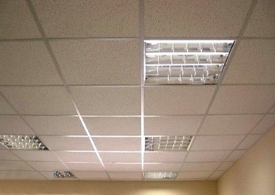 Подвесной потолок из цельных плит