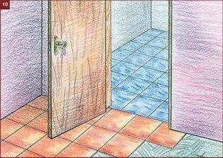 Напольная плитка у двери