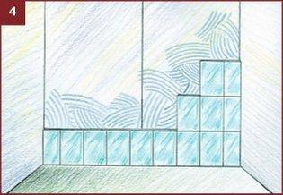 Размещение плитки на стене