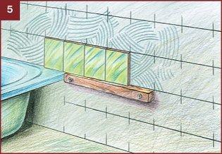 Укладка плитки у ванной