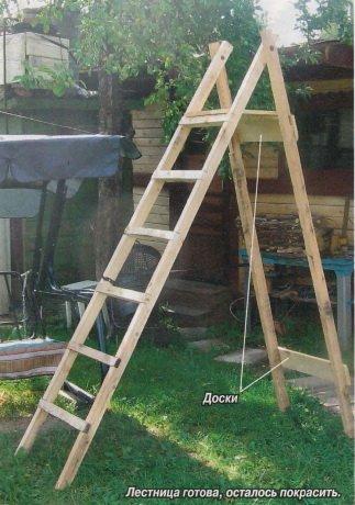 Изготовляем лестницу своими руками