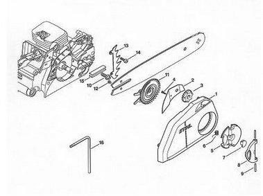 Конструкция бензопилы. Схема