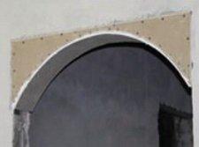 Крепление гипсокартона в форме арки