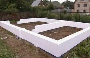 Применение несъемной опалубки для строительства стен