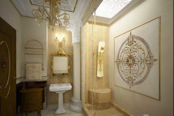 Украшения на стенах в ванной комнате