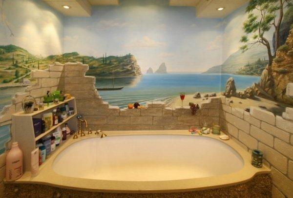 Имитации в ванной