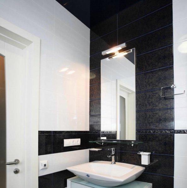 Контрасты в дизайне ванной комнаты