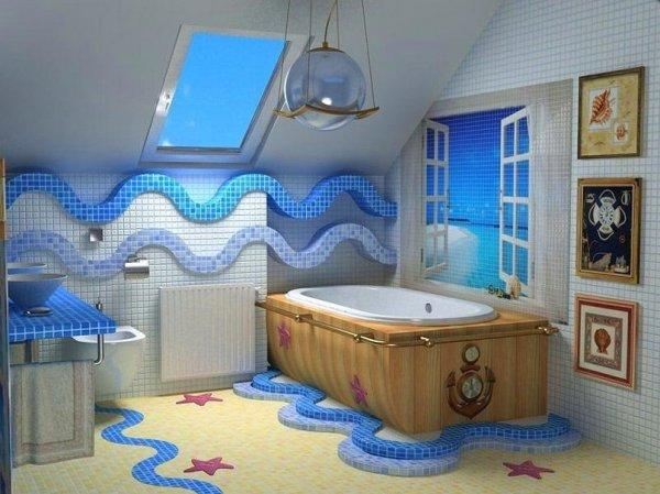 Оригинальные акценты в интерьере ванной комнаты