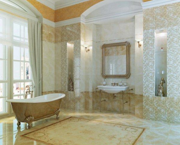 Дворцовый стиль для ванной комнаты