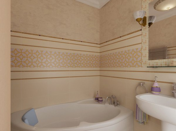 Светло-коричневый цвет в ванной