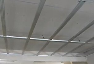 Подвесной потолок из гипсокартона на видео
