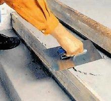 Заливка бетоном ступеней лестницы