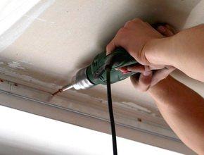 Как монтируется натяжной потолок