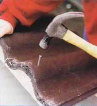 Закрепление цементно-песчаной черепицы