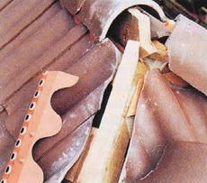 Монтаж черепицы на ребрах крыши