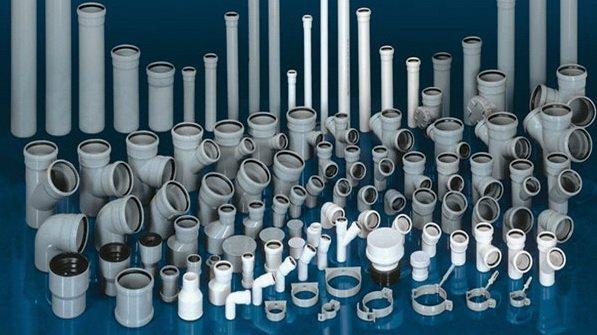 Имеется множество деталей для канализационных труб