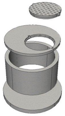 Набор железобетонных элементов для строительства